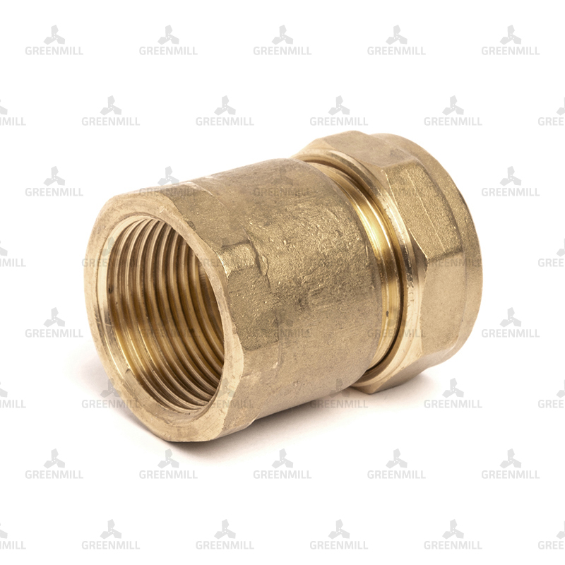Brass Compression Female Iron Coupler 22mm-3/4