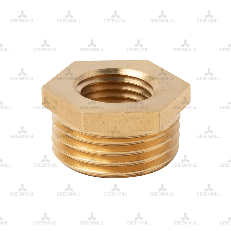 Brass Hexagon Bush 3/4