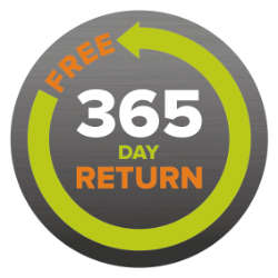 365 day free returns policy no questions asked