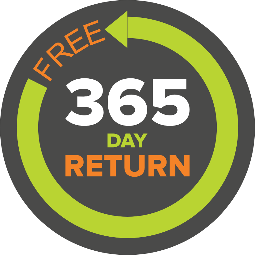 365 day FREE returns policy